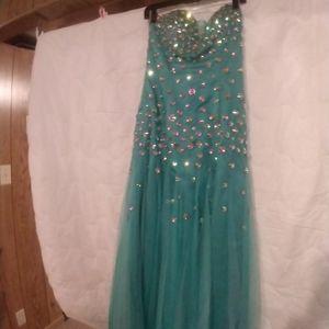 Dresses - Turquoise Prom Dress